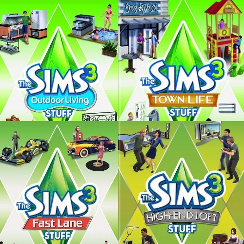Amazon com: The Sims 3 Stuff 4-pack (Fast Lane, High End