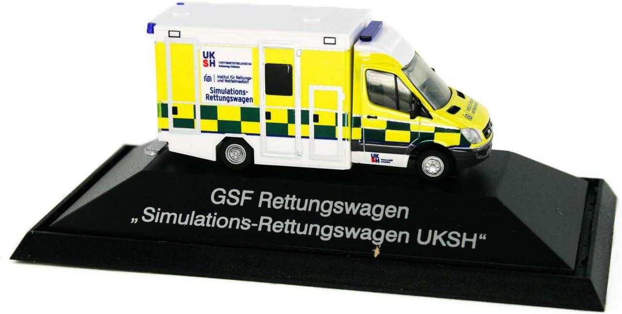 1:87 Einsatzserie Simulations-Rettungswagen UKSH Kiel Rietze 61726 GSF RTW