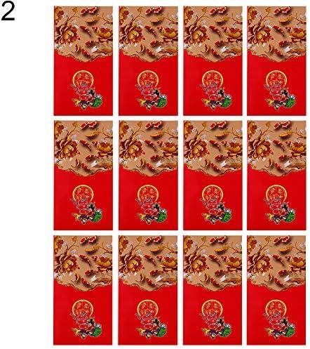 Paquete de 12 sobres rojos de la suerte de la fortuna 2019 para regalo de bendición, 11 unidades: Amazon.es: Hogar