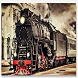 LHDLily 3D Wallpaper Mural Wall Sticker Thickening Retro Nostalgic Train For Walls Wall Paper Painting Home Improvement Decorate 350cmX250cm