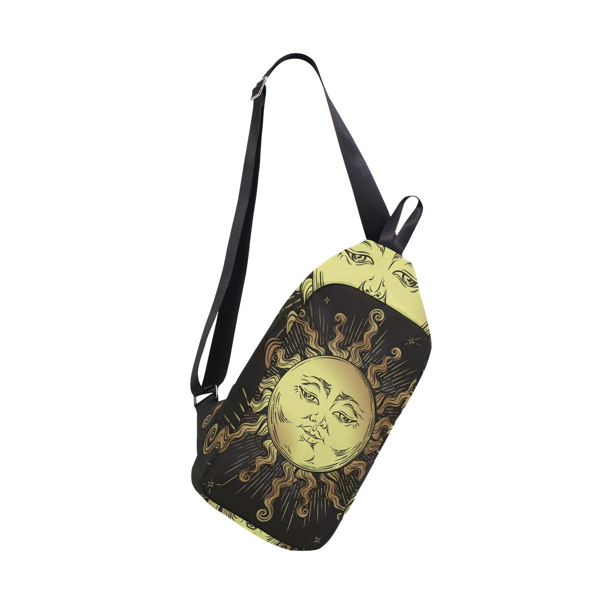 AHOMY Boho Sun Stars Messenger Bag Small Travel School Sling Bag Crossbody Bag