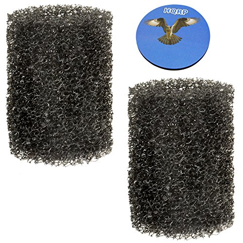 HQRP 2-pack Pre-Filter Foam for Tetra Pond FK3 / # 26594 Filtration Fountain Kit Coaster