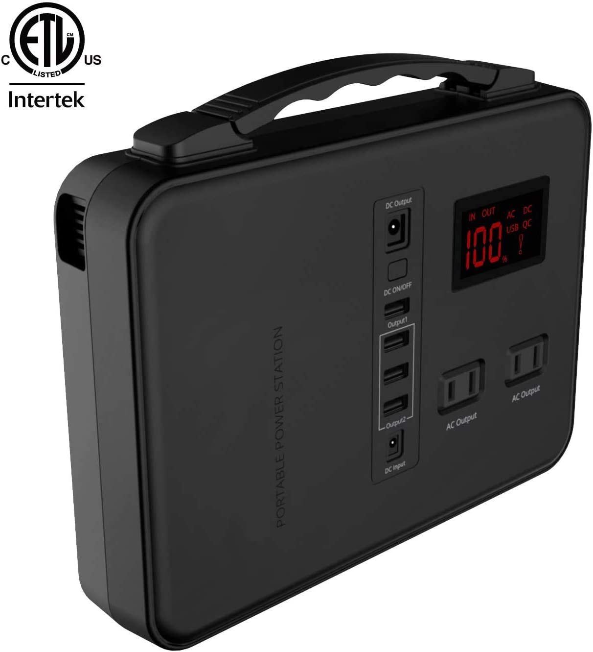 12V DC Output Rechargeable Emergency Backup Lithium Battery with 110V//200W AC Outlet for Home Travel Camping Outdoors USB Ports 150Wh LED Flashlight Alpha Digital Power Station