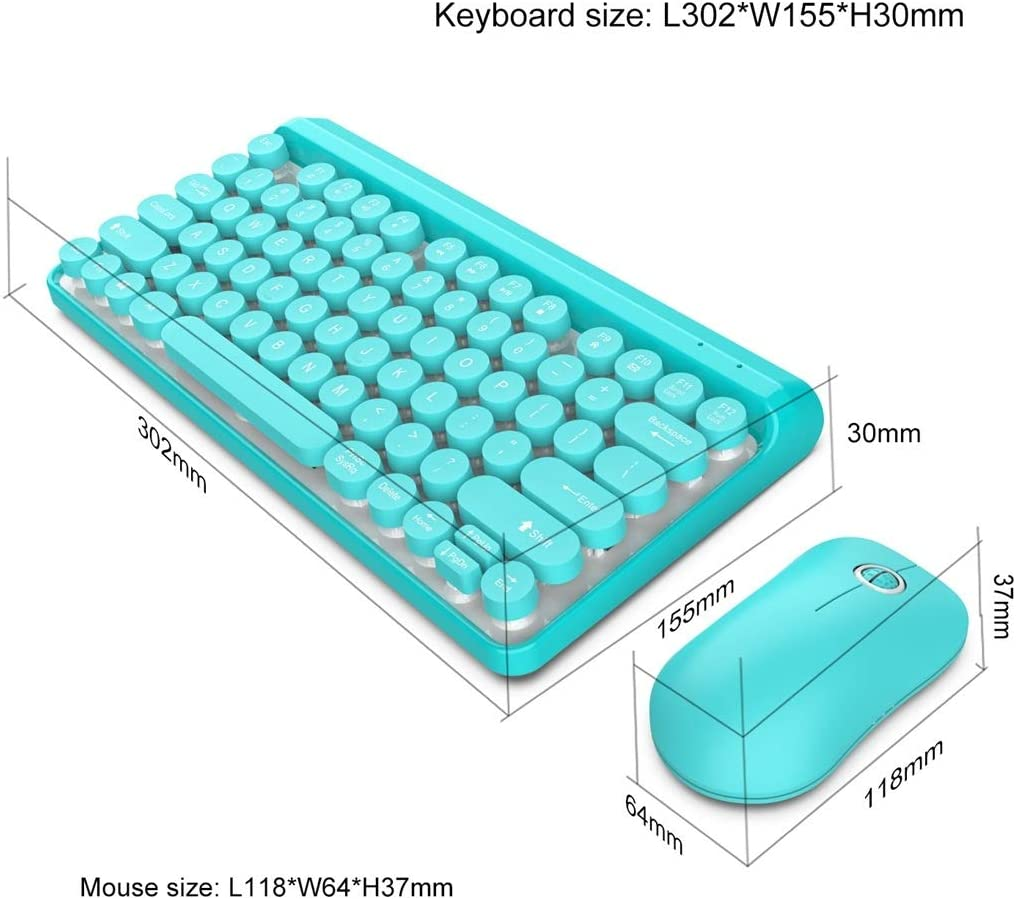 Color : Pink L100 2.4GHz Ultrathin Wireless Keyboard Mouse Set Durable