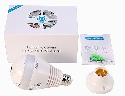 Amazon.com: Bombilla de seguridad para cámara IP panorámica ...