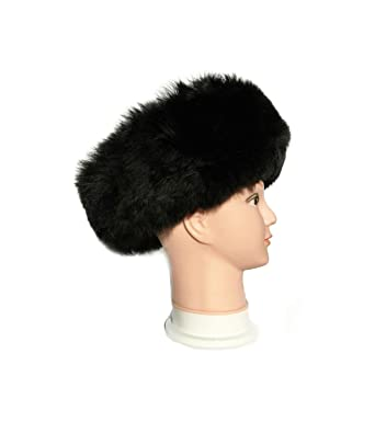 4a02d04f24113 Authentic Premium Baby Alpaca Fur Hat - Russian Cossack Style Hat Winter  -Wrap Hat (Black) at Amazon Women s Clothing store
