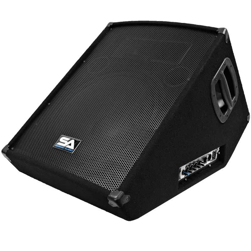 seismic audio sa 15mt pw powered 2 way 15 floor stage monitor wedge style. Black Bedroom Furniture Sets. Home Design Ideas
