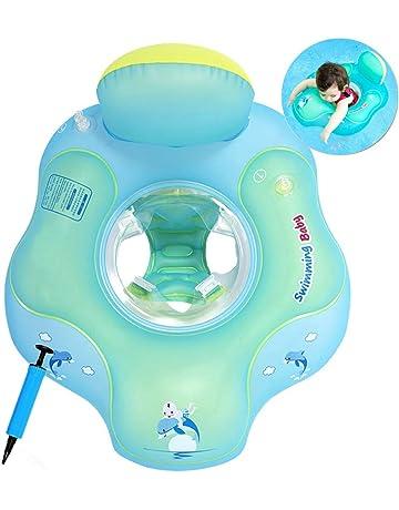 Cosoro Flotador de natación para bebé con Asiento yanillo de Seguridad,Juguetes para natación recién