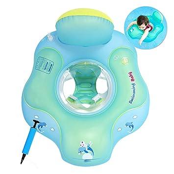 COSORO Flotador de natación para bebé con Asiento yanillo de Seguridad, Juguetes para natación recién