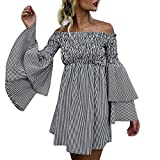 Women's 2019 Summer Casual Floral Printed Sleeveless V-Neck Short Dress with Pockets Black