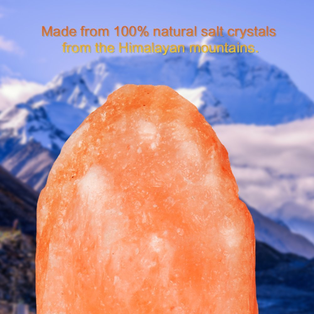 SMAGREHO Himalayan Salt Lamp Natural Hand Carved Crystal Rock Lamps with Bulbs and Dimmer Switch (9-11inch,11-15.5lbs)