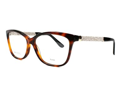 850ae169536 Image Unavailable. Image not available for. Color  JIMMY CHOO Eyeglasses 105  0Inn Havana 55MM