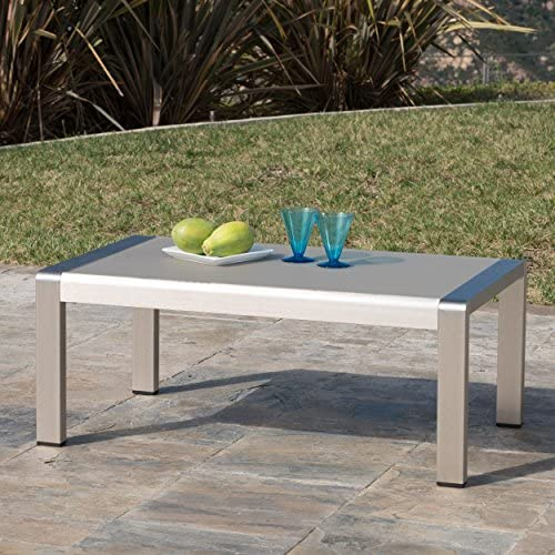 Crested Bay Patio Furniture Aluminum Outdoor Coffee Table