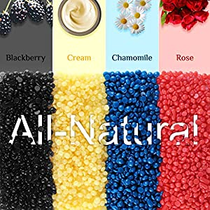 Wax Warmer, Femiro Hair Removal Home Waxing Kit with 4 Flavors Stripless Hard Wax Beans?14.1oz?20 Wax Applicator Sticks for Full Body, Legs, Face, Eyebrows, Bikini Women Men Painless At Home Waxing