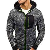 Fashion Mens Zip Casual Winter Drawsting Autumn Long Sleeve Slim Pocket Fit Jacket Coat