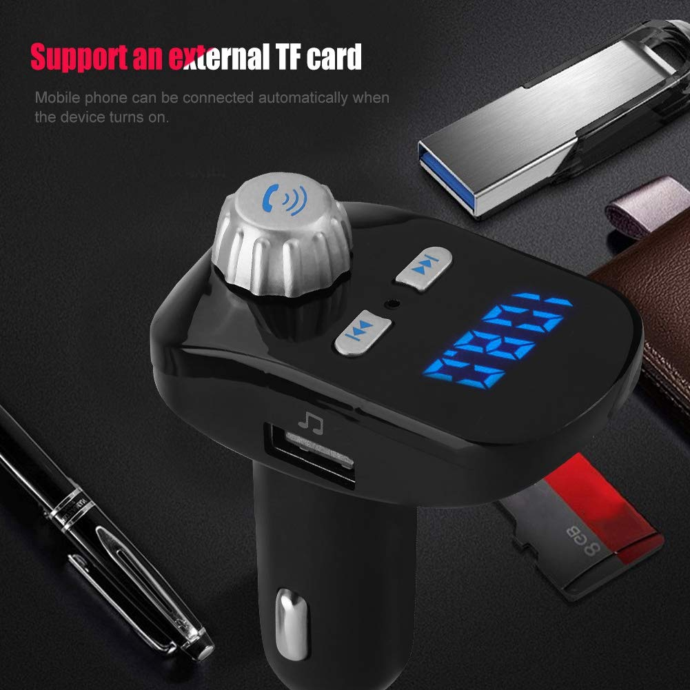 Mugast Car MP3 Player,G95 Car MP3 FM Full-Band Wireless Transmission Bluetooth Player Support Mobile's A2DP Function Bluetooth Wireless Hands Free Phone Calling by Mugast (Image #5)