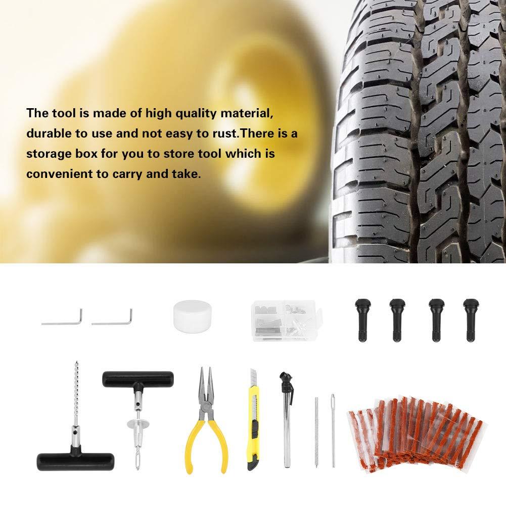 Zunate 92PZ Kit di Riparazione Pneumatici Auto Set di Strumenti di Riparazione Pneumatici per la Riparazione di Forature per Pneumatici con Valigia