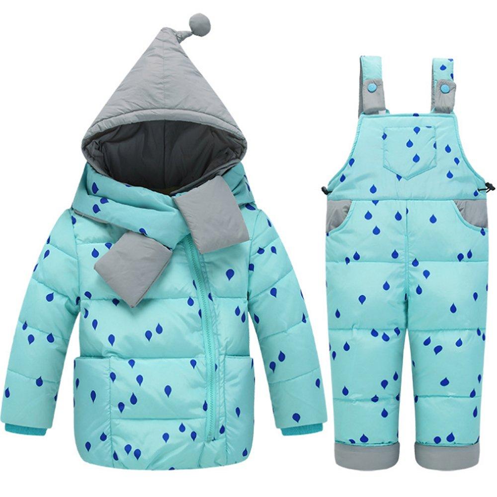 KISBINI キッズ オーバーコート 女の子ジャケット 棉コート ダウンコート 上下セット 子供 ダウンジャケット 防風 防寒 暖かい コート 秋冬子供服
