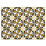 UJUNAOR 12Pcs Vintage Square Self Adhesive Tile Stickers Decal Home Decoration