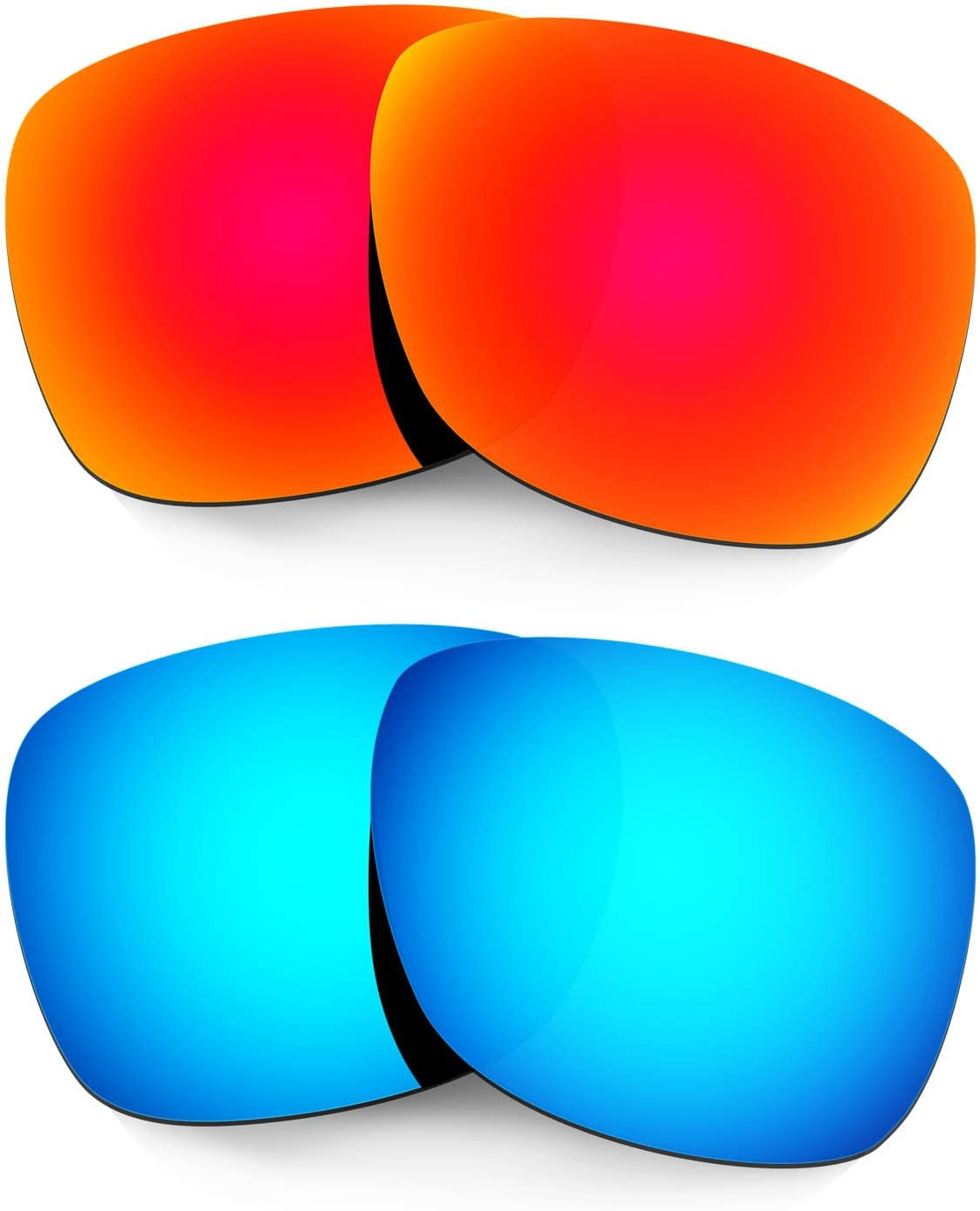 HKUCO Mens Replacement Lenses for Oakley Catalyst Sunglasses Red/Blue