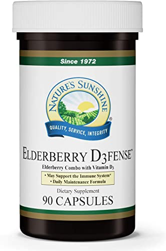 Nature's Sunshine Elderberry D3fense 90 Capsules