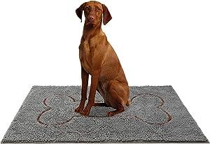 """HOMIMP 48"""" x 30"""" Large Durable Chenille Doormat, Absorbent, Machine Washable Inside Mats, Low-Profile Rug Doormats for Patio, Front Door, Back Door,Entry,Mud Room,Outdoor,Indoor"""