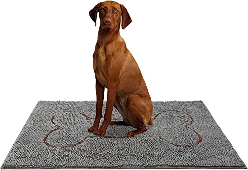 HOMIMP 48 x 30 Large Durable Chenille Doormat, Absorbent, Machine Washable Inside Mats, Low-Profile Rug Doormats for Patio, Front Door, Back Door,Entry,Mud Room,Outdoor,Indoor