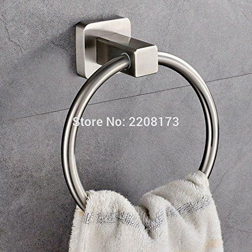 Generic Luxury SUS304 Stainless Steel Brushed Nickel Bathroom Wall Mounted Towel Rings Towel Racks Rails Holder Stainless steel B071934XRD