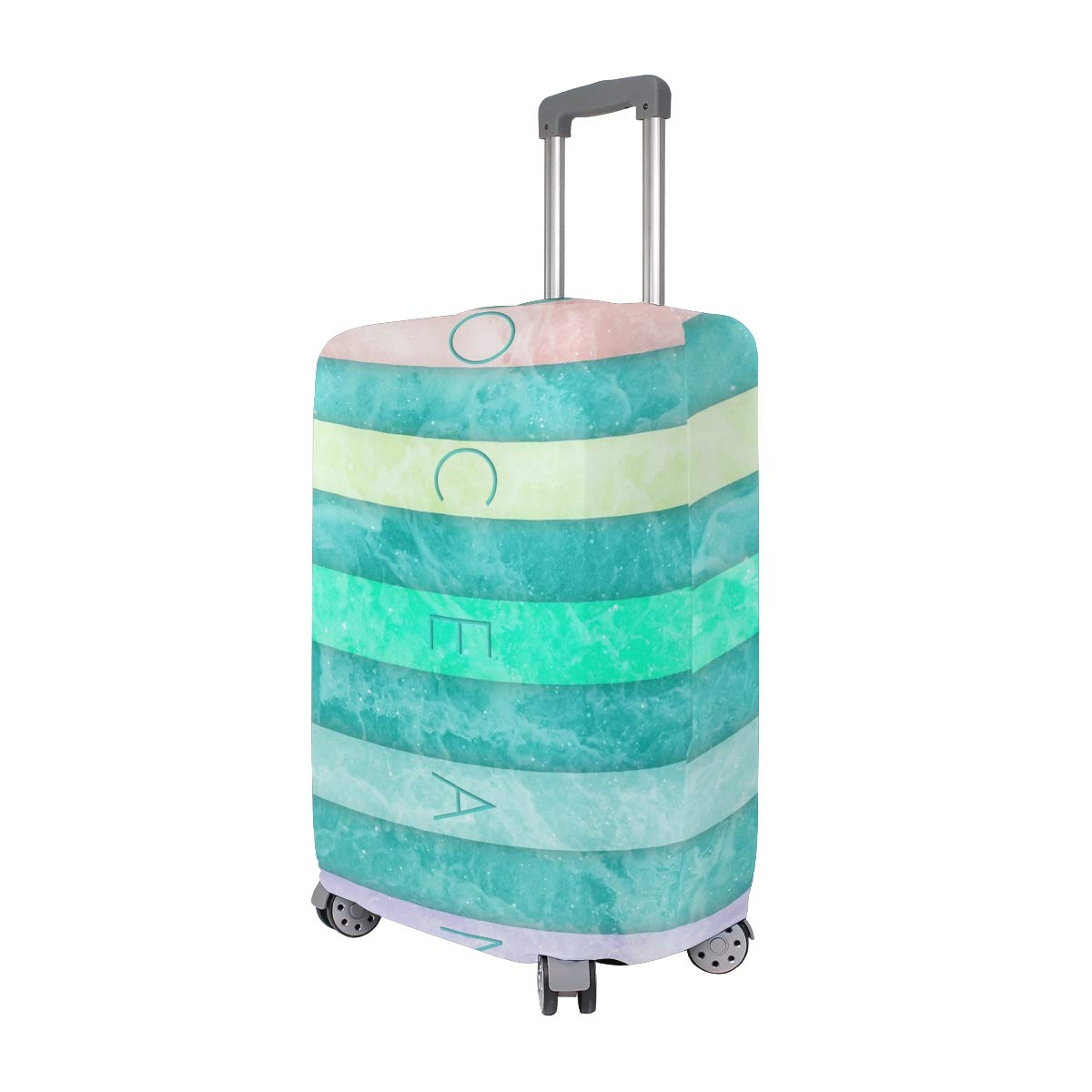 Travel Luggage Cover Ocean Stars Background Abstract Suitcase Protector Fits 22-24 Inch Washable Baggage Covers
