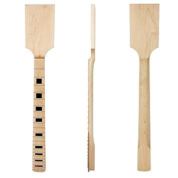 Mástil de guitarra eléctrica Kmise, con cabeza palisandro de arce, 22 trastes e incrustaciones, Natural 5: Amazon.es: Instrumentos musicales
