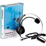 PChero Cuffie RJ9 Regolabile Monofonico per Telefono Fisso Call Center Regolare con 4-Pin RJ9 Della Spina e Microfono