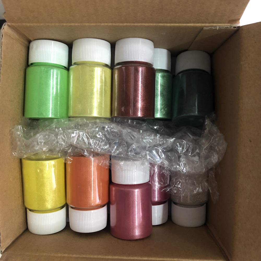 22 Colors Mica Powder Pigments for Resin, Jewelry, Artist Colorant, Craft Projects, Nail Art (22 Colors (0.53 oz Each)) by VTurboWay