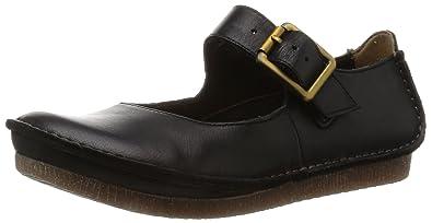 Clarks Janey June, Women's Ankle Strap Sandals, Black (Black Leather), 10
