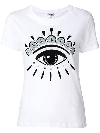 2ec62d175 Kenzo Women's F562TS7334YB01 White Cotton T-Shirt: Amazon.co.uk ...