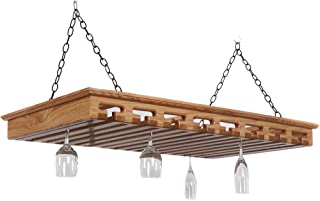 """product image for Solid Wood Stemware Rack - Holds Over 40 Glasses (Natural) (3.5""""H x 43""""W x 23""""D)"""