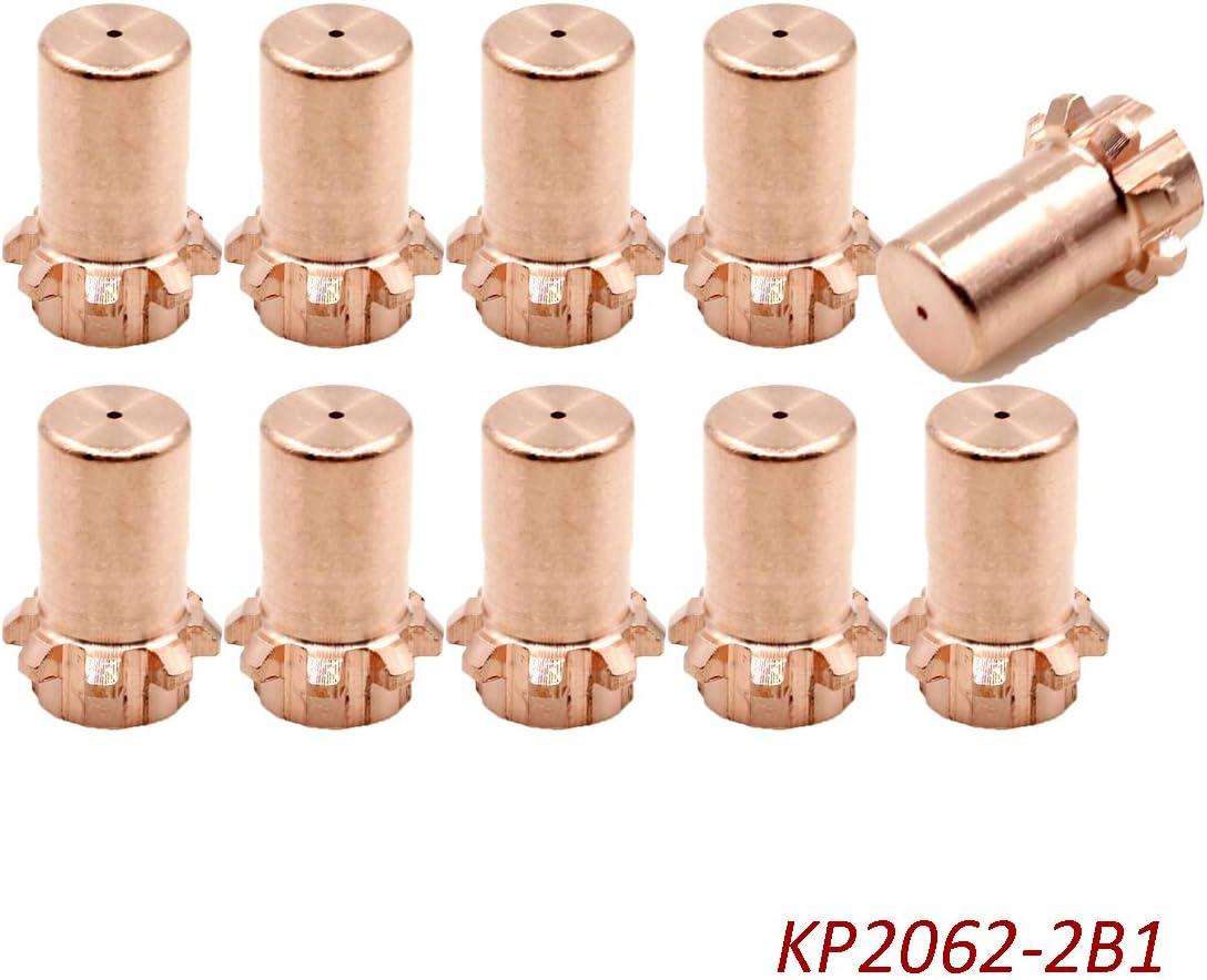 10PCS KP2062-2B1 Nozzle Tip KP2063-1B1 Fit Lincoln Electric PRO-Cut 55 80 PCT20//80 Plasma Torch Replacement Parts
