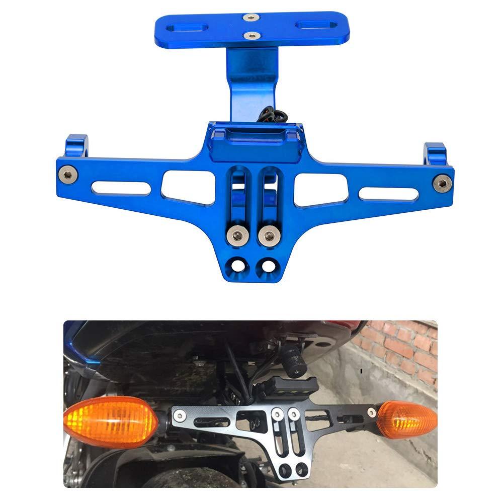Portatarga posteriore universale per moto Staffa regolabile per leliminazione dei parafanghi per Yamaha per Kawasaki per Ducati Titanio