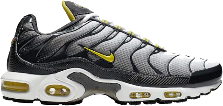 Nike Mens Air Max Plus Anthracite Opti Yellow White Mesh Running Shoes 8 M US