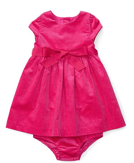 2feec225888 Amazon.com  Ralph Lauren Baby Girls s Corduroy Dress   Bloomer  Clothing
