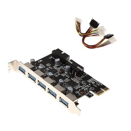IDEAPRO PCI-E a USB 3.0 5 puertos PCI Express tarjeta y 15 ...