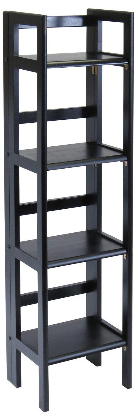 Winsome Wood Folding 4-Tier Shelf, Black