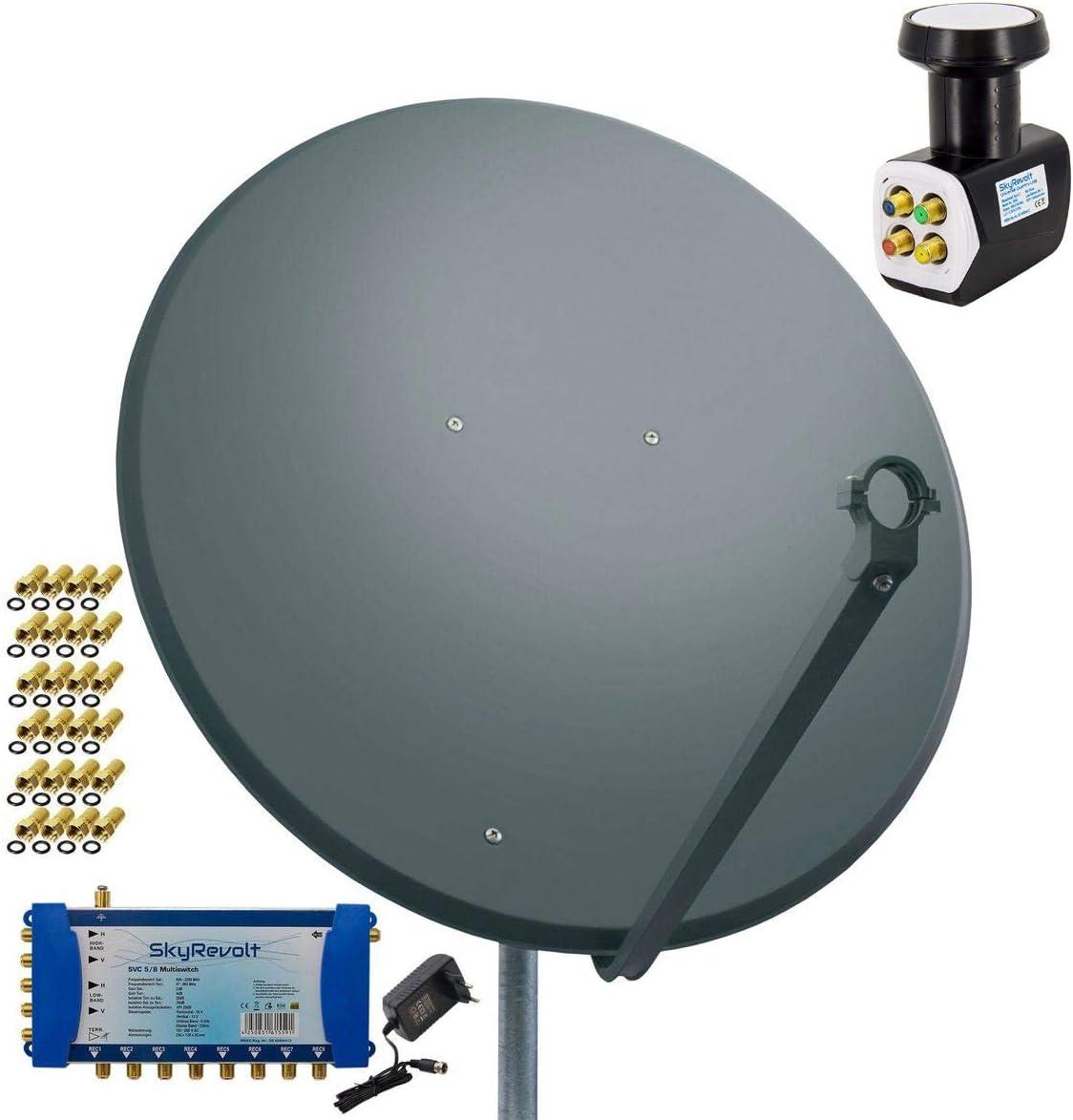 PremiumX – Antena 100 cm Acero Antracita + skyre V ...