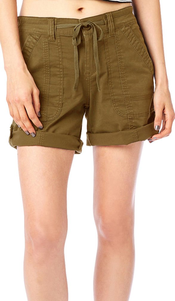 UNIONBAY Supplies Womens Marty Twill Roll Cuff Shorts 8 Baguette Brown