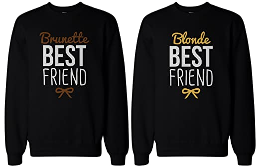 Amazon.com: Cute Brunette and Blonde Best Friend Matching BFF ...