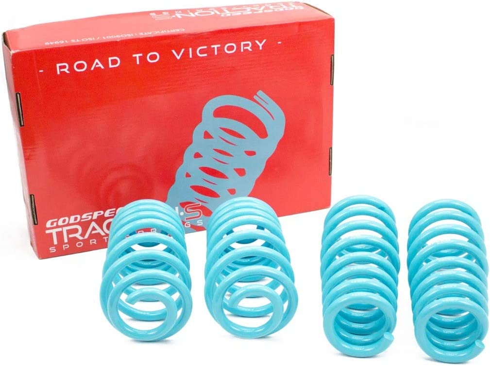 Godspeed LS-TS-CT-0012 Traction-S Performance Lowering Springs Improve Overall Handling And Steering Response