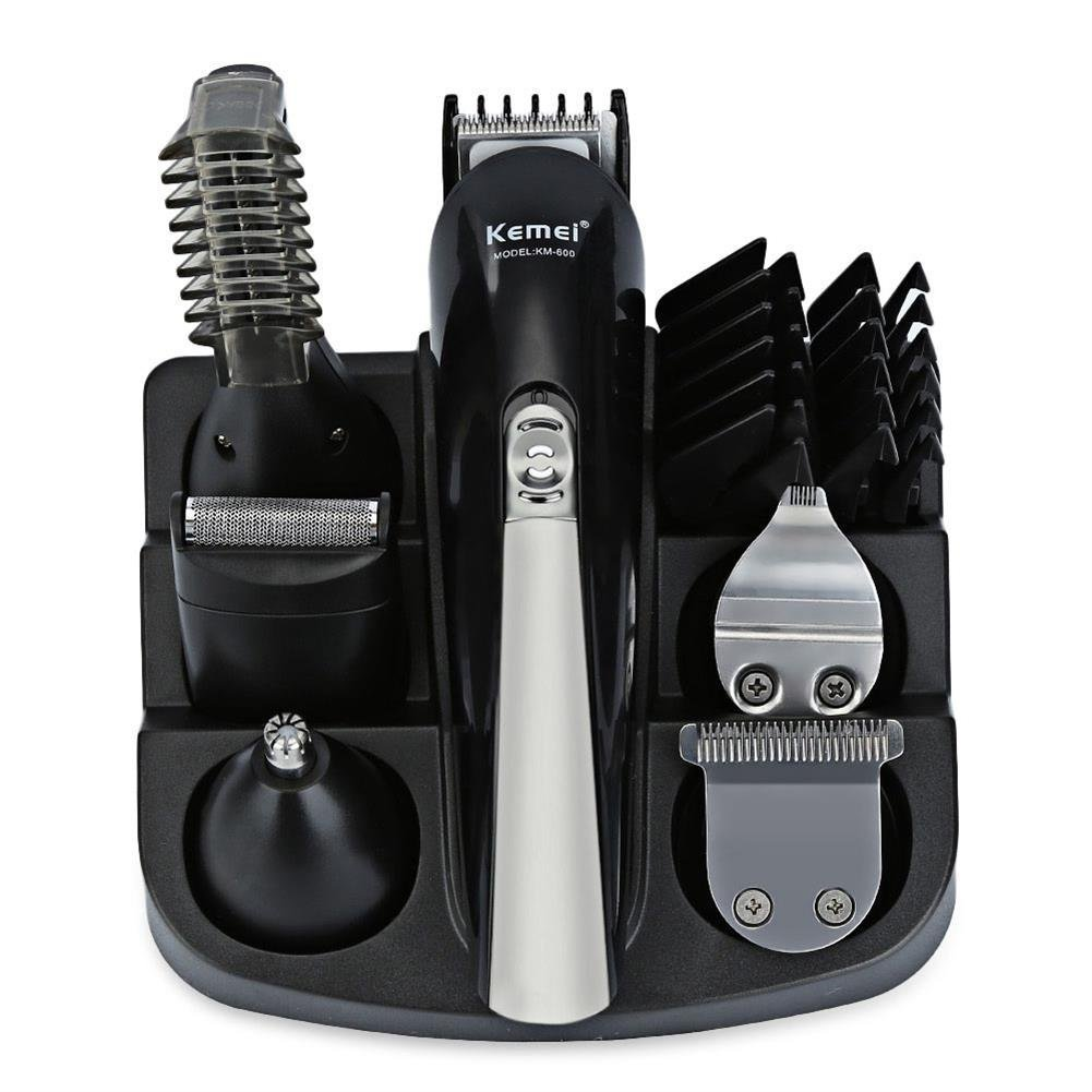 KeMei Mens Electric Shaver Hair Clippers Beard Trimmer-Multi Grooming Kit for Beard, Hair & Body with Nose Ear hair Trimmer Attachment