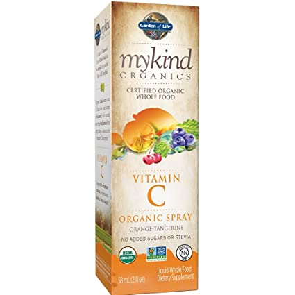 MYKIND Organics, vitamina C org_nico en spray, naranja-mandarina - Jard_n de la