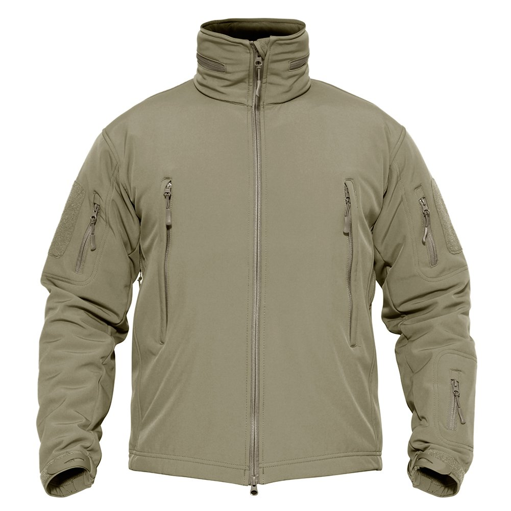 TACVASEN Men's Outdoor Vintage Classic Durable Military Tactical Jacket Coat Sand,US M(fit chest:35''-38'') by TACVASEN (Image #2)
