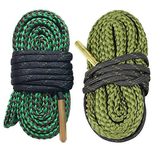 AIRSSON 2pcs Bore Cleaner Snake Rifle Pistol Shotgun Gun Cleaning Kit for 9mm 5.56mm .22 .223 .308 12Ga (Choose Your Calibers) (.22 .223 .38 .380)