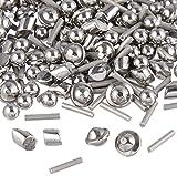 2 Lb 1/8'' Stainless Steel Tumbling Media Shot Jewelers Mix 4 Shapes Tumbler Finishing